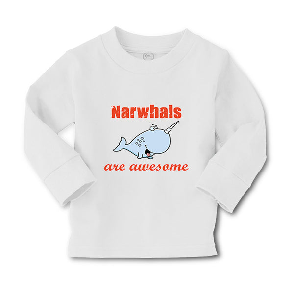 Baby Clothes Narwhals Are Awesome Ocean Sea Life Boy & Girl Clothes Cotton - Cute Rascals