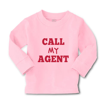 Baby Clothes Call My Agent Funny Humor Boy & Girl Clothes Cotton