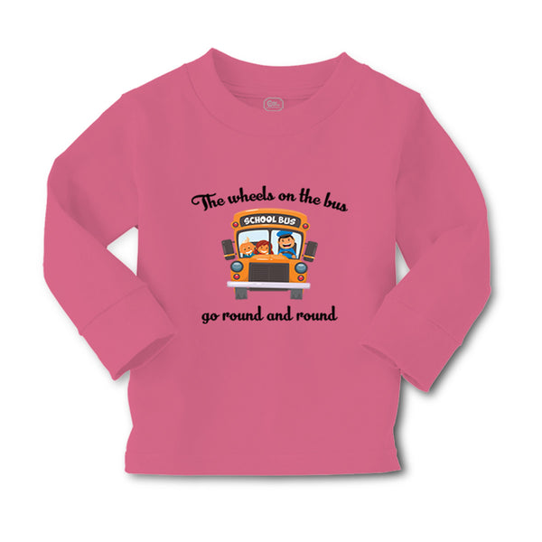 Baby Clothes The Wheels on The Bus Go Round and Round Funny Humor Cotton - Cute Rascals