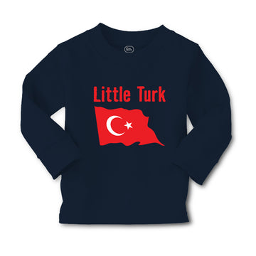 Baby Clothes Little Turk Turkish Flag Countries Little Boy & Girl Clothes Cotton