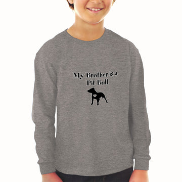Baby Clothes My Brother Is A Pitbull Dog Lover Pet Boy & Girl Clothes Cotton