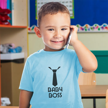Baby & Toddler Boy T-Shirt Boss with Silhouette Neck Tie Funny