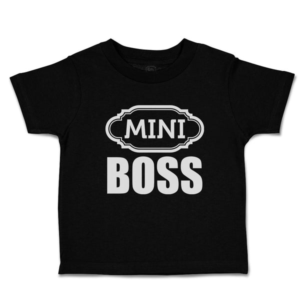 Toddler Clothes Mini Boss with Ogee Pattern Toddler Shirt Baby Clothes Cotton