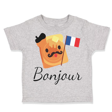 Cotton Baby & Toddler Boy T-Shirt Bonjour French Funny Humor