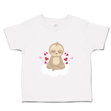 Baby & Toddler T-Shirt Valentine Sloth Hearts Holidays Valentins Funny
