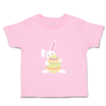Toddler Clothes White Bunny Holds Orange Egg Toddler Shirt Baby Clothes Cotton