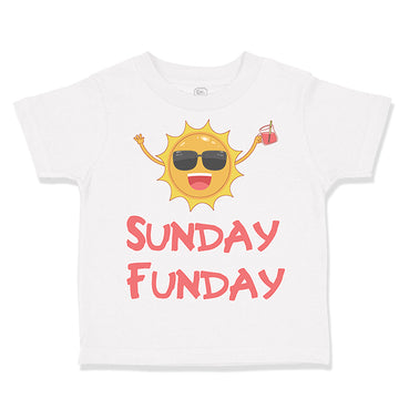 Baby & Toddler T-Shirt Sunday Funday Funny Humor W, Ab, Sp, Oxg