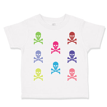 Toddler Clothes Skulls Funny Humor Toddler Shirt Baby Clothes Cotton