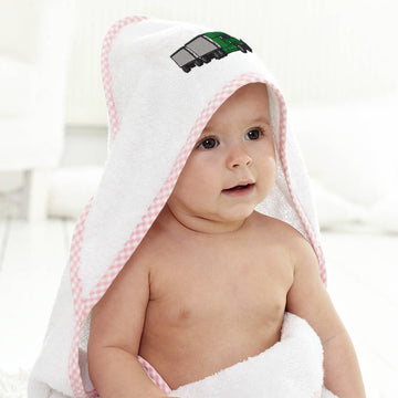 Baby Hooded Towel Freight Truck Embroidery Kids Bath Robe Cotton