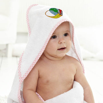 Baby Hooded Towel Space Shuttle B Embroidery Kids Bath Robe Cotton