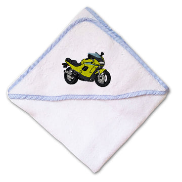 Baby Hooded Towel Sport Bike Embroidery Kids Bath Robe Cotton