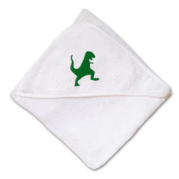 Baby Hooded Towel Dinosaur T-Rex Embroidery Kids Bath Robe Cotton
