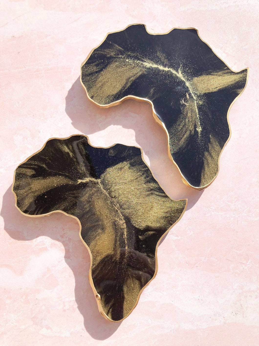 Black & Gold Africa Coasters