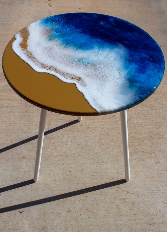 Seashore Resin Table