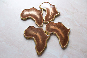 Copper Africa Coaster