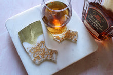 Load image into Gallery viewer, Gold Crown Nefertiti Coaster Set