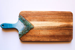 Teal Paddle Serving Board