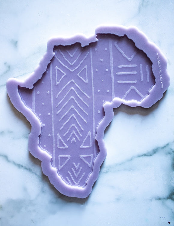Mudcloth Engraved Africa Tray Mold