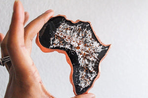 Black Velvet Africa Coaster Set