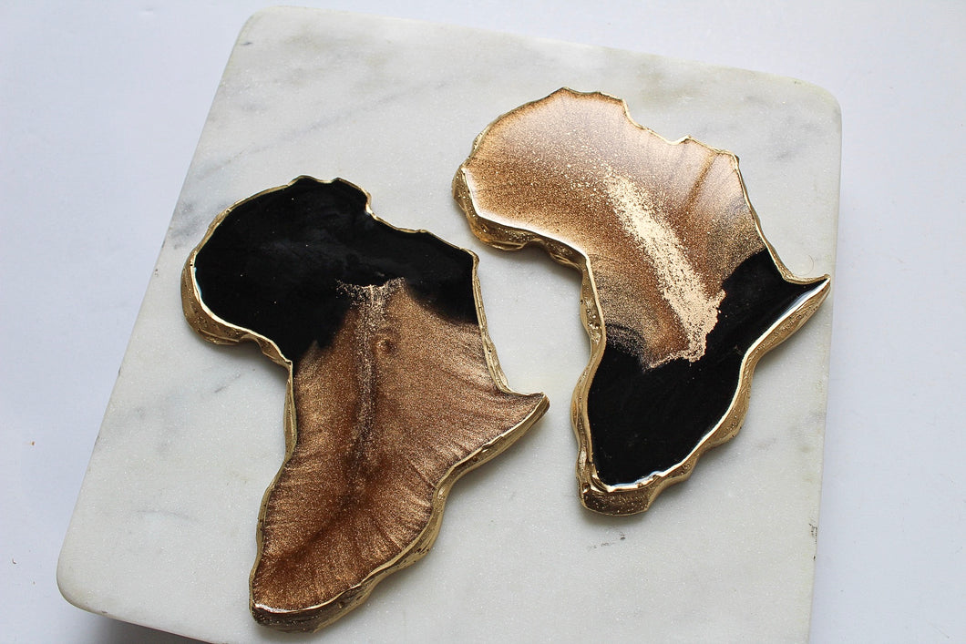 Black & Brass Africa Coasters