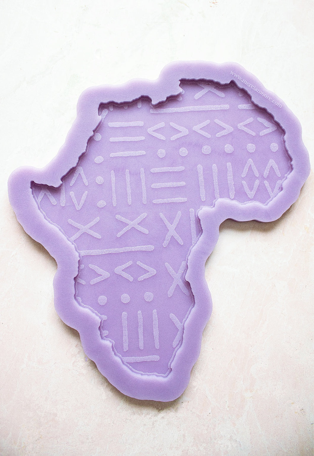 Mud Cloth Engraved Africa Tray Mold