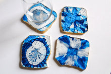Load image into Gallery viewer, Square Agate Coaster Set