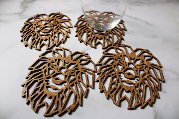 Lion Head Coaster Set