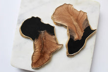 Load image into Gallery viewer, Black & Brass Africa Coasters