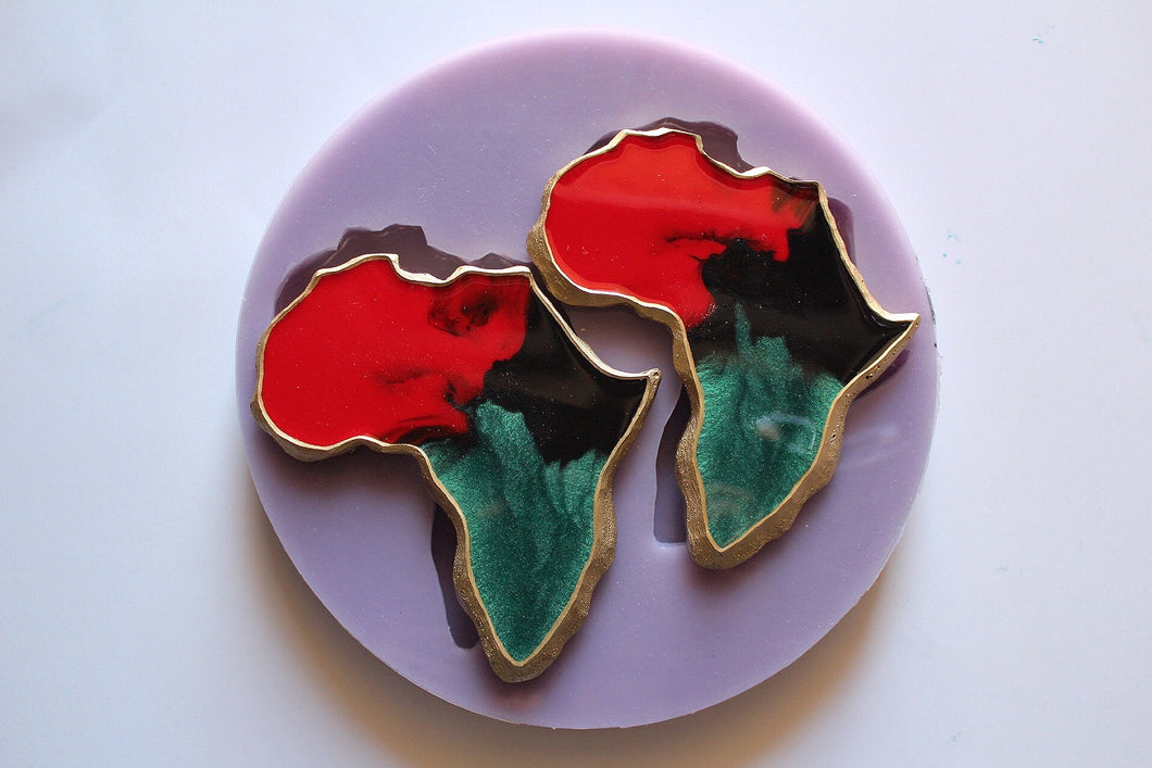 Double Africa Coaster Mold