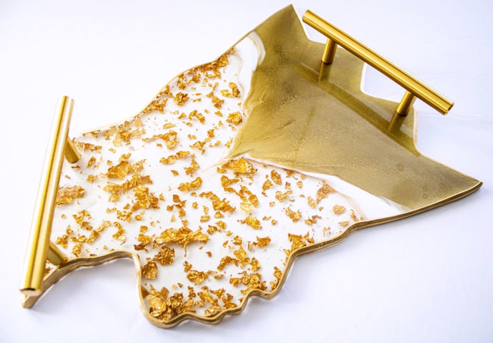 24K Gold Flake King Tray