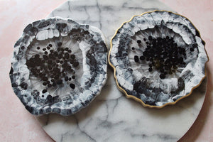 Black & White Agate Coaster Set
