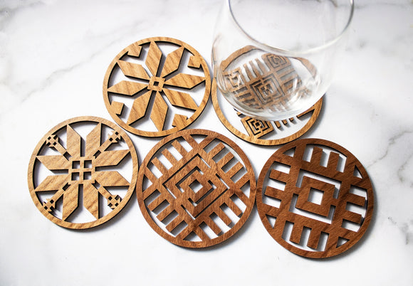 Round Tribal Coaster Set