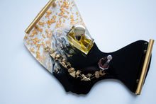 Load image into Gallery viewer, Black & 24K Gold Flake Nefertiti Tray