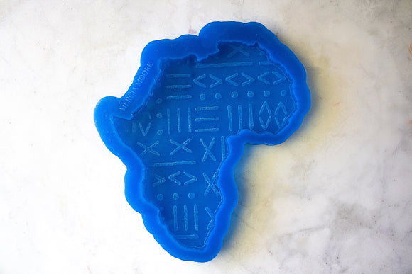 Mudcloth Engraved Africa Coaster Mold