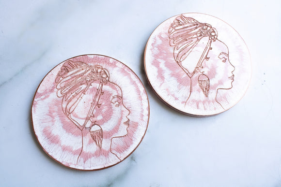 Silhouette Engraved Coaster Set