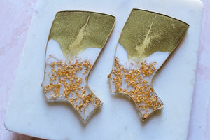 Gold Crown Nefertiti Coaster Set