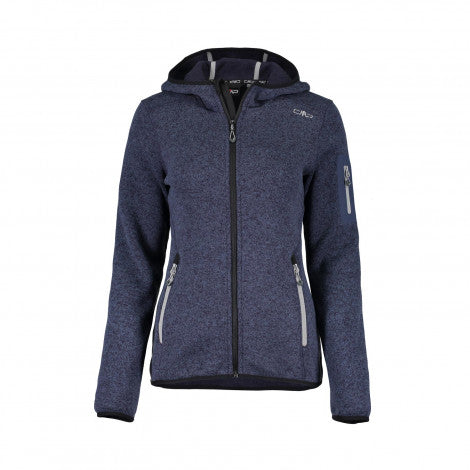 Campera Fix Hood Polar Knit Tech - Mujer