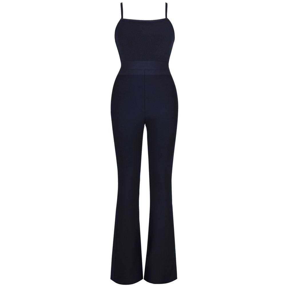 'Melrose' Black Cut Out Bandage Jumpsuit - Shop Secret Showroom