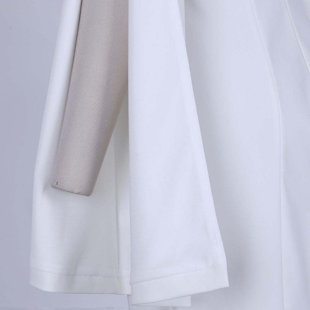 'Eleanor' White Strapless Slit Sleeve Dress - Shop Secret Showroom