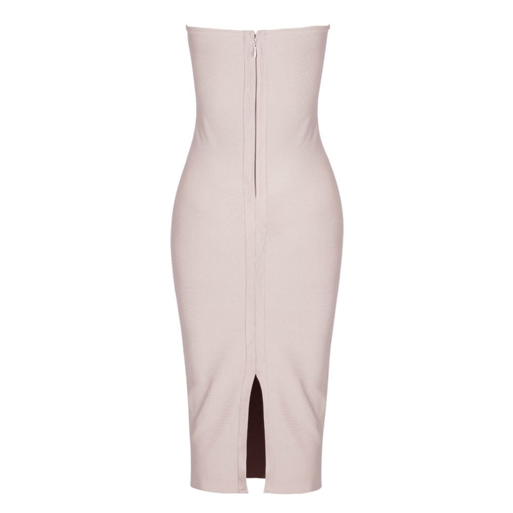 'Dreamy' Nude Bandage Dress with Tassels - Shop Secret Showroom