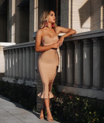 'Anahi' Nude Bandage Dress - Shop Secret Showroom