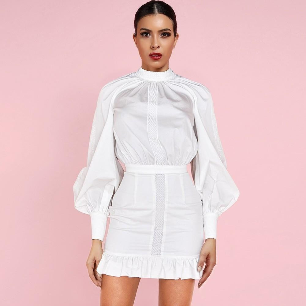 'Everlasting Love' White Ruffle Mini Dress - Shop Secret Showroom