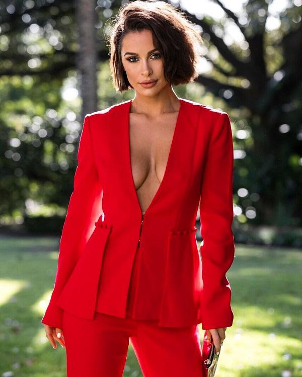 'Misha' Red Bodycon Two Piece Suit - Shop Secret Showroom