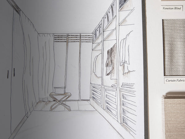 One Point Perspective Drawings William Woods Interior Design