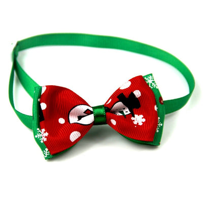Christmas Holiday Pet Cat Dog Collar Bow Tie - Me pets goods