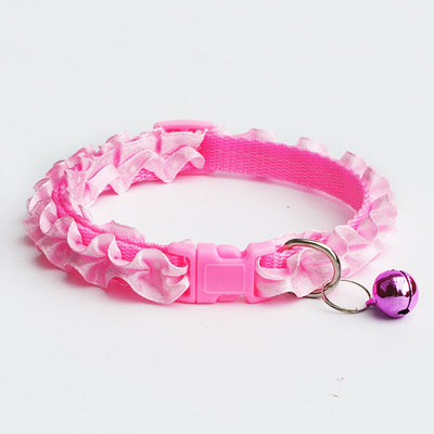 Lovely Cat Dog Lace Collar With Bell - Me pets goods