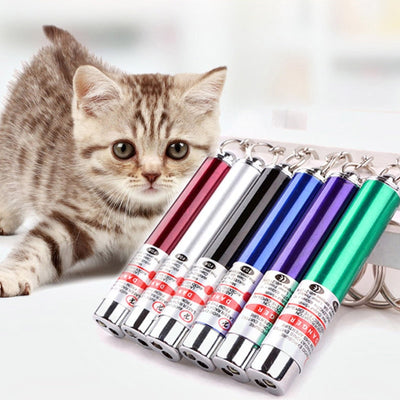New Pet Cat Laser Toys Cat Teaser Stick - Me pets goods