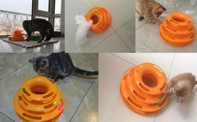 Triple Stacked Best Cat Entertainment Ball Toy - Me pets goods