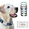 Personalized Stylish Dog Collar with Optional Matching Dog Leash - Me pets goods