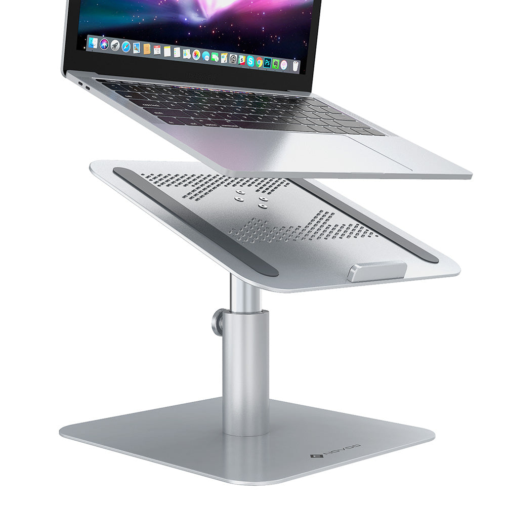 Laptop Stand MacBook Pro, NOVOO 360° Rotating, Angle&Height Adjustable Laptop Holder Ergonomics Computer Stand